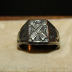 VINTAGE STERLING HEAD 1940S NATIVE AMERICAN RING